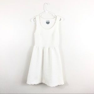 Anthropologie Maeve Caye White Scalloped Dress